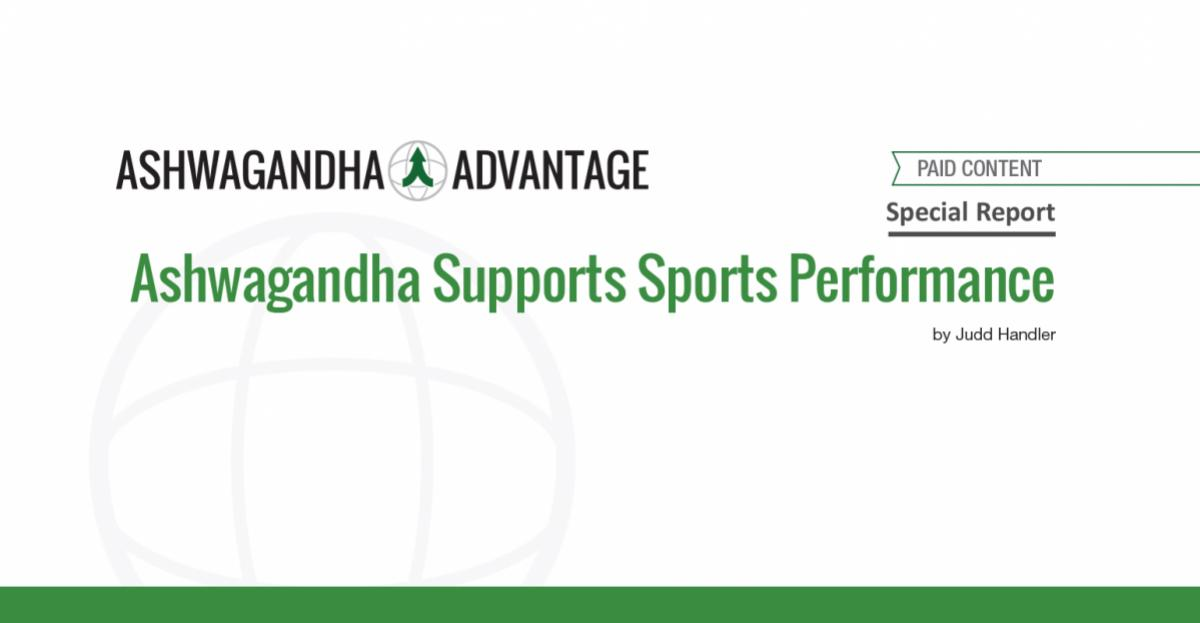 Ashwagandha Supports Sports Performance - Report